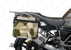 BSTI 3933 BMW R1250GS Adventure Pannier M90 Camo Military Full Wrap Stickers Kit 02