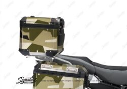BSTI 3933 BMW R1250GS Adventure Top Box M90 Camo Military Full Wrap Stickers Kit 01