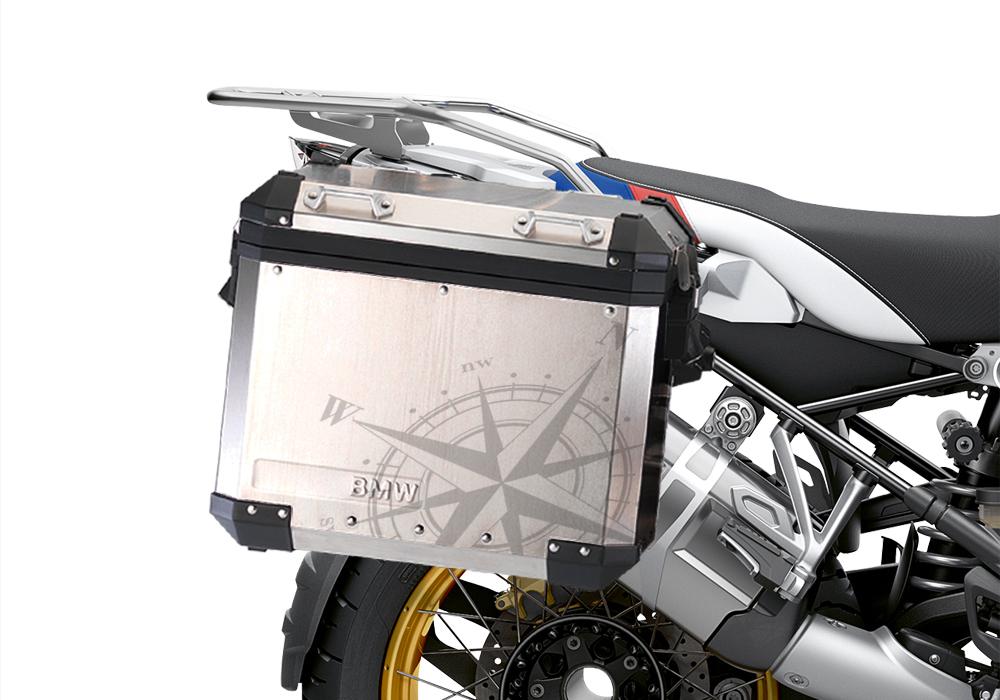 BKIT 3775 BMW Alluminium Panniers Compass Stickers Kit 02