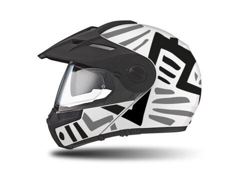 HEL 3937 Schuberth E1 Helmet White Massai Grey Black