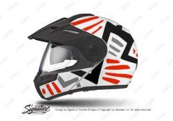 HEL 3938 Schuberth E1 Helmet White Massai Red Black Grey