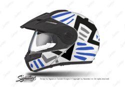 HEL 3939 Schuberth E1 Helmet White Massai Blue Black Grey