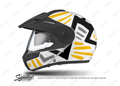 HEL 3940 Schuberth E1 Helmet White Massai Yellow Black Grey
