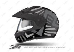 HEL 3943 Schuberth E1 Helmet Black Massai Grey Silver