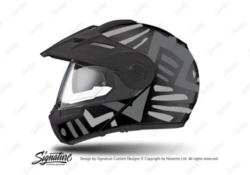HEL 3943 Schuberth E1 Helmet Black Massai Grey Silver