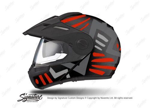HEL 3944 Schuberth E1 Helmet Black Massai Red Grey Silver