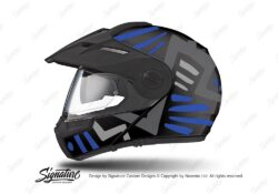 HEL 3945 Schuberth E1 Helmet Black Massai Blue Grey Silver