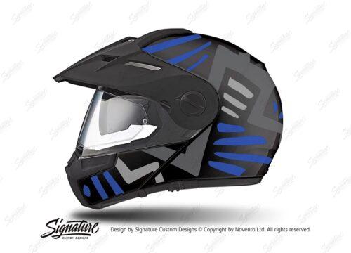 HEL 3945 Schuberth E1 Helmet Black Massai Blue Grey Silver