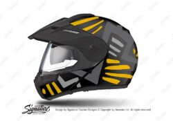 HEL 3946 Schuberth E1 Helmet Black Massai Yellow Grey Silver