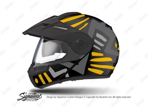 HEL 3946 Schuberth E1 Helmet Black Massai Yellow Grey Silver