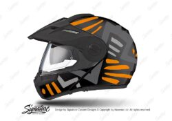 HEL 3947 Schuberth E1 Helmet Black Massai Orange Grey Silver