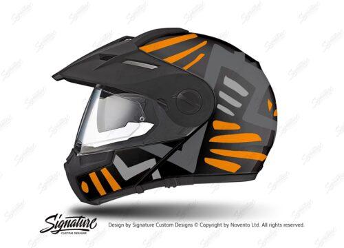 HEL 3947 Schuberth E1 Helmet Black Massai Orange Grey Silver