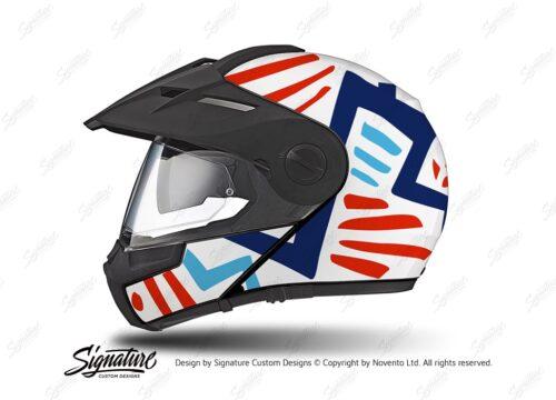 HEL 3950 Schuberth E1 Helmet White Massai Red Blue Light Blue