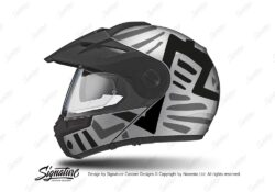 HEL 3951 Schuberth E1 Helmet Silver Massai Grey Black