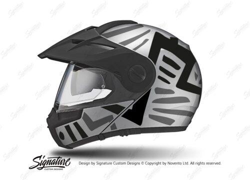 HEL 3951 Schuberth E1 Helmet Silver Massai Grey Black