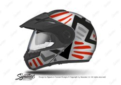 HEL 3952 Schuberth E1 Helmet Silver Massai Red Grey Black