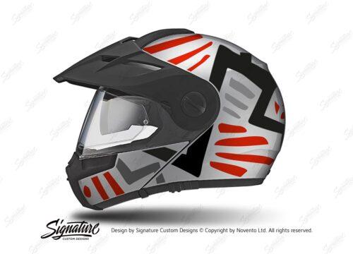 HEL 3952 Schuberth E1 Helmet Silver Massai Red Grey Black