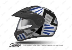 HEL 3953 Schuberth E1 Helmet Silver Massai Blue Grey Black