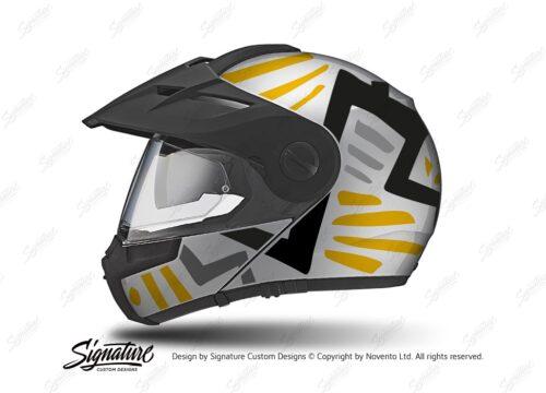 HEL 3954 Schuberth E1 Helmet Silver Massai Yellow Grey Black