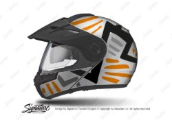 HEL 3955 Schuberth E1 Helmet Silver Massai Orange Grey Black