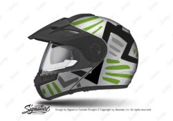 HEL 3956 Schuberth E1 Helmet Silver Massai Toxic Green Grey Black