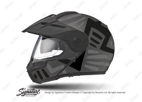 HEL 3958 Schuberth E1 Helmet Anthracite Massai Silver Black