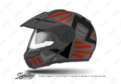 HEL 3959 Schuberth E1 Helmet Anthracite Massai Red Silver Black