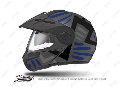 HEL 3960 Schuberth E1 Helmet Anthracite Massai Blue Silver Black