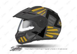 HEL 3961 Schuberth E1 Helmet Anthracite Massai Yellow Silver Black