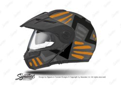 HEL 3962 Schuberth E1 Helmet Anthracite Massai Orange Silver Black