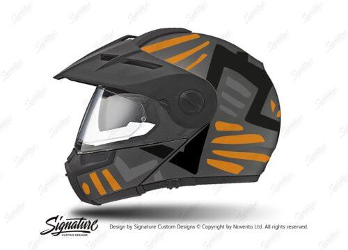 HEL 3962 Schuberth E1 Helmet Anthracite Massai Orange Silver Black