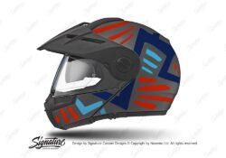 HEL 3964 Schuberth E1 Helmet Anthracite Massai Red Blue Light Blue