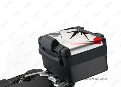 BKIT 3994 Vario Top Box Safari Spike Red Black Grey Stickers Kit