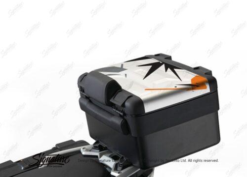 BKIT 4006 Vario Top Box Safari Spike Orange Black Grey Stickers Kit