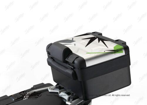 BKIT 4007 Vario Top Box Safari Spike Toxic Green Black Grey Stickers Kit