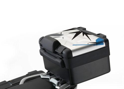 BKIT 4017 Vario Top Box Safari Cobalt Blue Black Grey Stickers Kit Cor