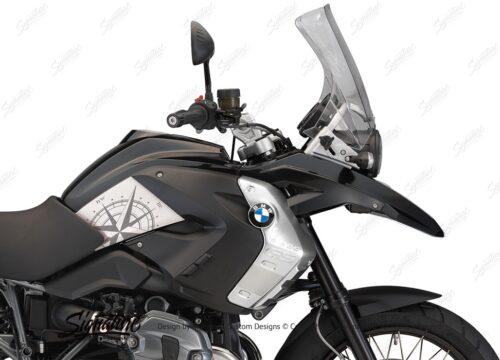 BSTI 3983 BMW R1200GS 2008 2012 Triple Black Compass Series Stickers 02