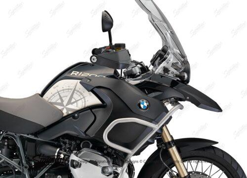 BSTI 3989 BMW R1200GS 2008 2013 Midnight Black Compass Series 02