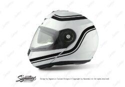HEL 3996 Shuberth C3 Pro White Retroline V6 Black Stickers