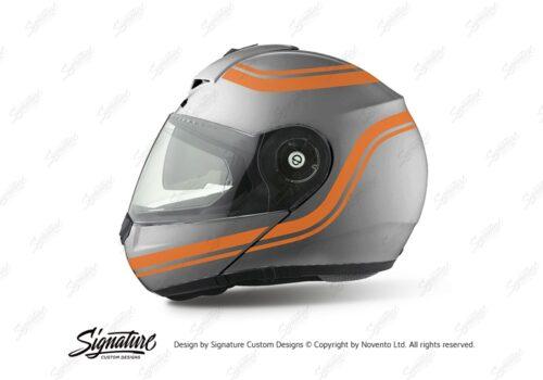 HEL 4000 Shuberth C3 Pro Silver Retroline V6 Orange Gloss Stickers