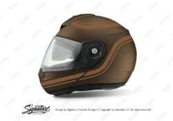 HEL 4002 Shuberth C3 Pro Mettal Retroline V6 Brown Metallic Stickers