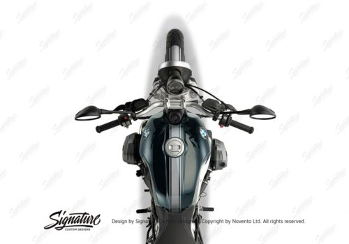 BKIT 4023 BMW R nineT Pure Full Triple Stripes Stickers Silver 1