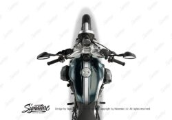 BKIT 4023 BMW R nineT Pure Full Triple Stripes Stickers White 1
