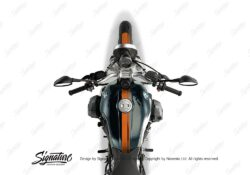 BKIT 4024 BMW R nineT Pure Full Double Stripes Stickers Orange 1