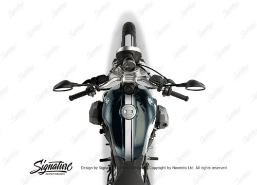 BKIT 4024 BMW R nineT Pure Full Double Stripes Stickers White 1