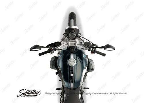 BKIT 4025 BMW R nineT Pure Full Stripes Stickers Silver 1