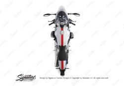 BKIT 4026 BMW R nineT Racer Full Triple Stripes Stickers Red