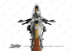 BKIT 4030 BMW R nineT Scrambler Full Double Stripes Stickers Saffron Yellow 02