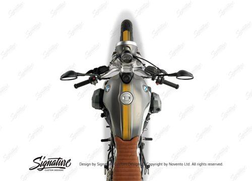 BKIT 4030 BMW R nineT Scrambler Full Double Stripes Stickers Saffron Yellow 02