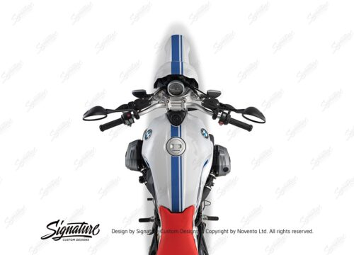 BKIT 4033 BMW R nineT Urban GS Full Double Stripes Stickers Cobalt Blue 1